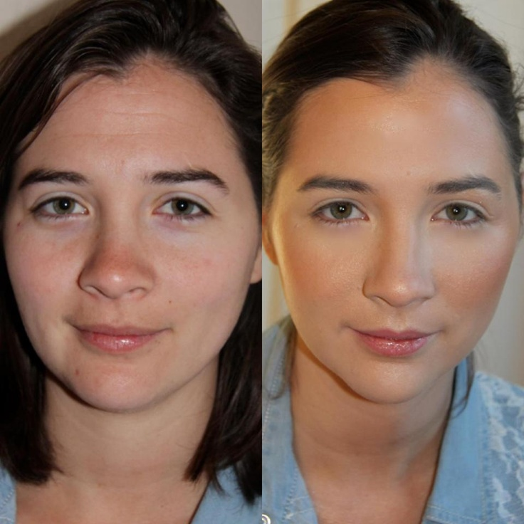 Airbrush Makeup Wedding Photos : Airbrush makeup before and after Wedding 7/12/14 Pinterest