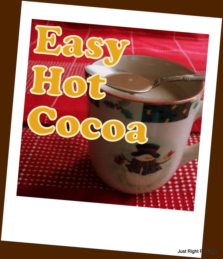 Easy Hot Cocoa/ FP | THM Drinks | Pinterest