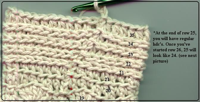 Crocheting In The Back Loop : crochet back loop only Crochet Pinterest