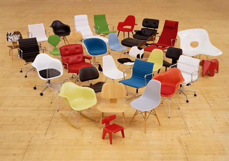 a collection of modern design chairs