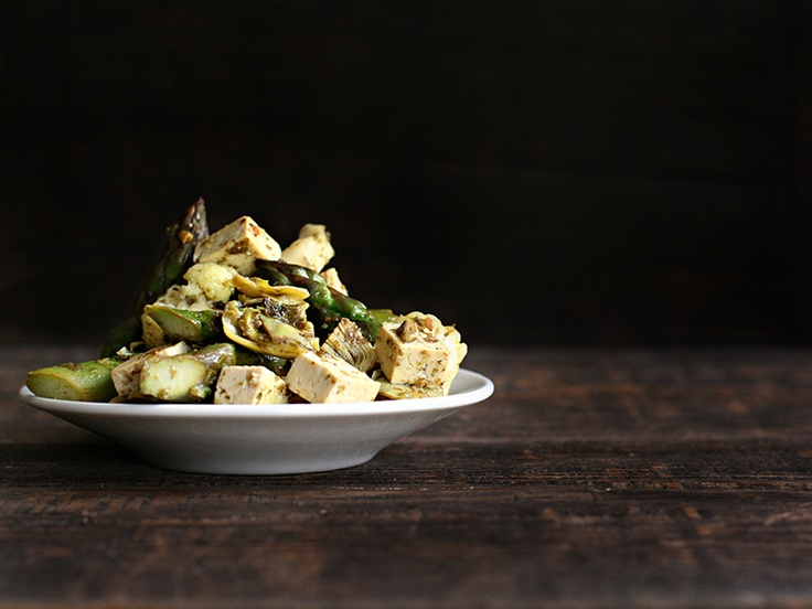 Sauteed Tofu with Spring Vegetables | Better with Butter | Pinterest