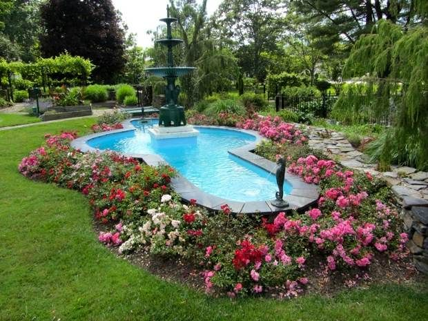 Pin by beth williams on pool infinity edge border pinterest for Simple backyard ponds