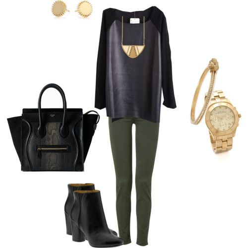 How to wear olive green pants polyvore