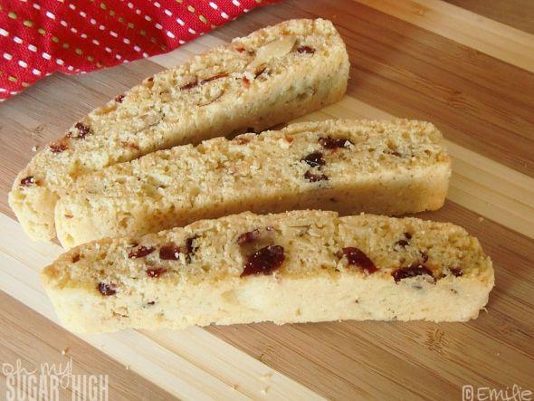 Cranberry Orange Almond Biscotti - Yum! | cookies | Pinterest