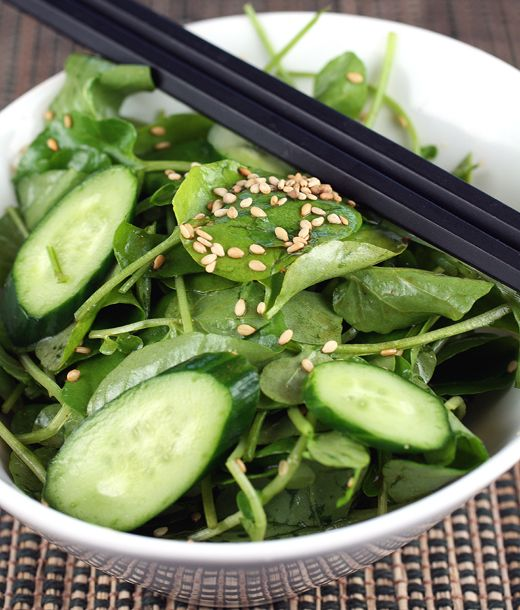Recipe: Healthy Watercress and Sesame Salad (Rice Vinegar, Soy Sauce ...