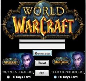 world of warcraft account generator