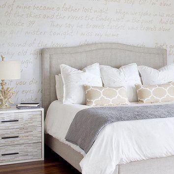 Off White Bedding Master Bedroom Idea Bedroom Decor Ideas Pinterest