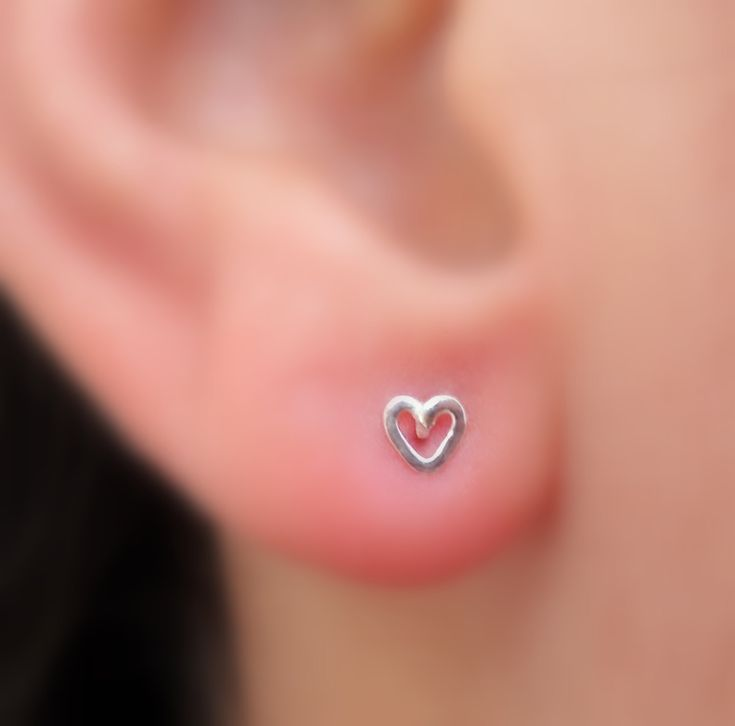 valentine heart nose ring stud