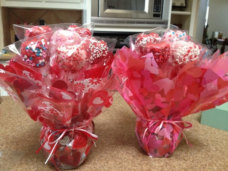 Cake Pop Decorating Ideas Valentines : Valentine Cake Pop Bouquet valentines Pinterest