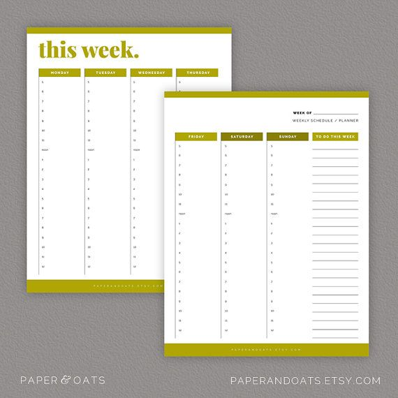 Calendars & To Do Lists – Editable, Daily, Weekly and Monthly ...