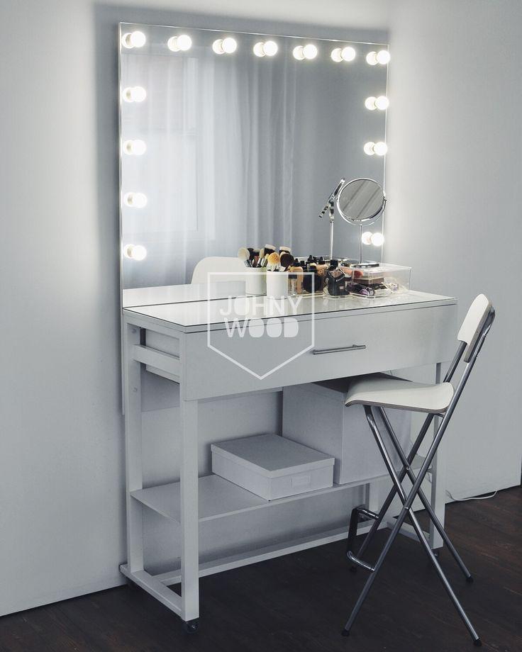 Зеркало для гримерной с подсветкой своими руками