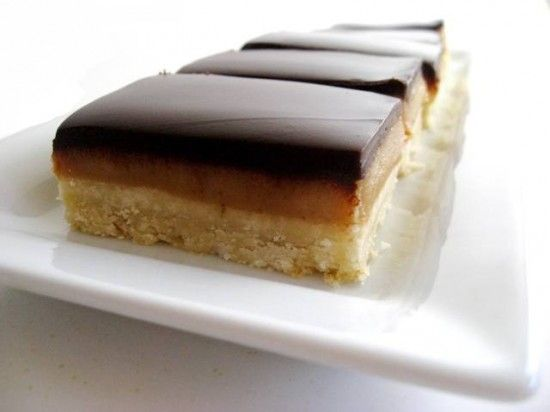 Caramel Shortbread bars [Millionaires Slice] Michelle offers the hint ...