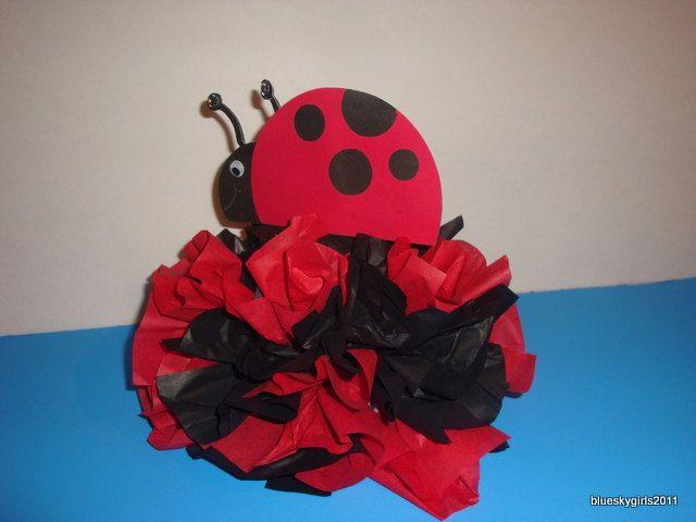 Lady bug decoration centerpiece table