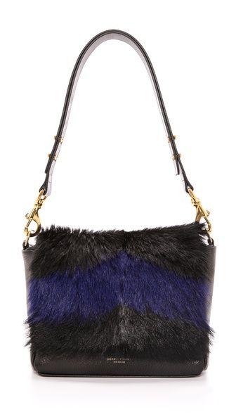 Shop now: Deadly Peonies Mr. Nebula Fur Messenger Bag