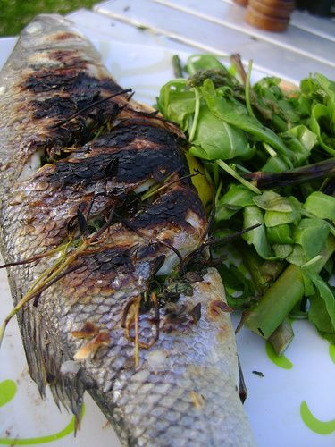BBQ Chilli and Garlic Sea Bass http://www.loverofcreatingflavours.co ...