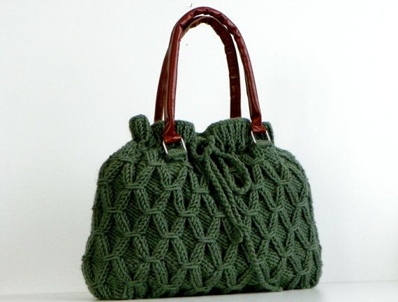 Green Knit Bag.