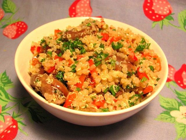 fava bean salad | An Open Cookbook: Fava Bean Quinoa Salad