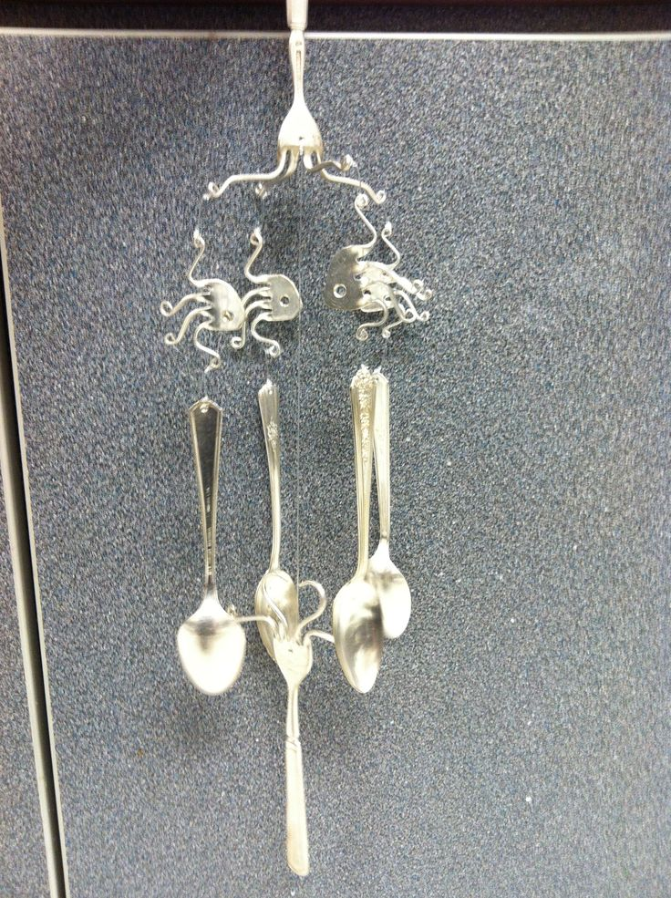 wind chime with forks and spoons forks and spoons