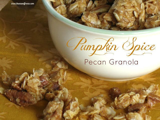 Pumpkin Spice Pecan Granola | Cereal Bars / Granola | Pinterest