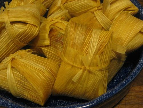 Sweet Tamales With Guajillo Chocolate Sauce - Recipe Included.