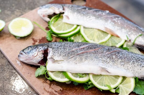 Grilled Whole Trout with Cilantro and Lime | Unadventures in Cooking