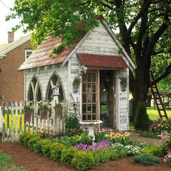How To Decorating Garden Shed Garden Envy Pinterest