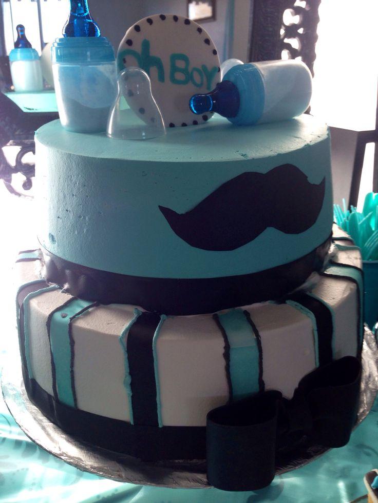 mustache cake boy mustache baby shower pinterest