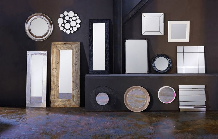 Miroirs d coratifs inspiration pinterest for Miroir 5 bandes