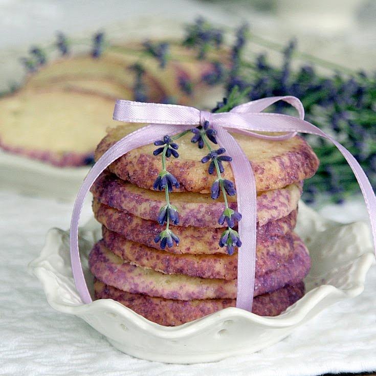 lemon-lavender shortbread cookies | Food - sweetiePIE | Pinterest