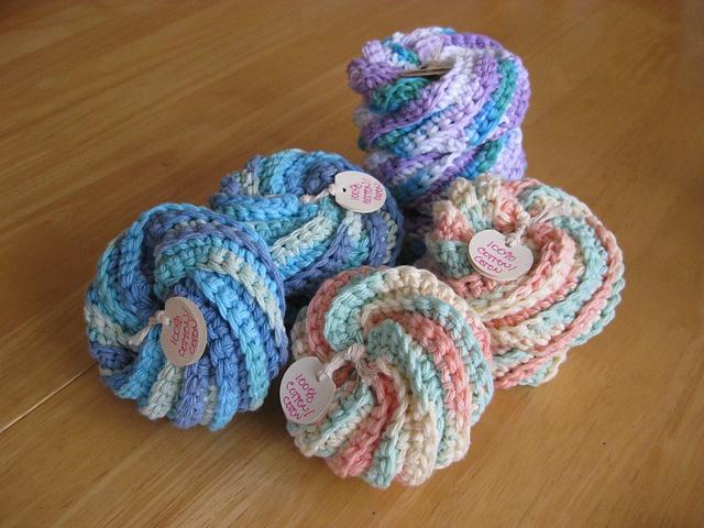 Crochet Patterns Only Spiral Scrubbie : spirals