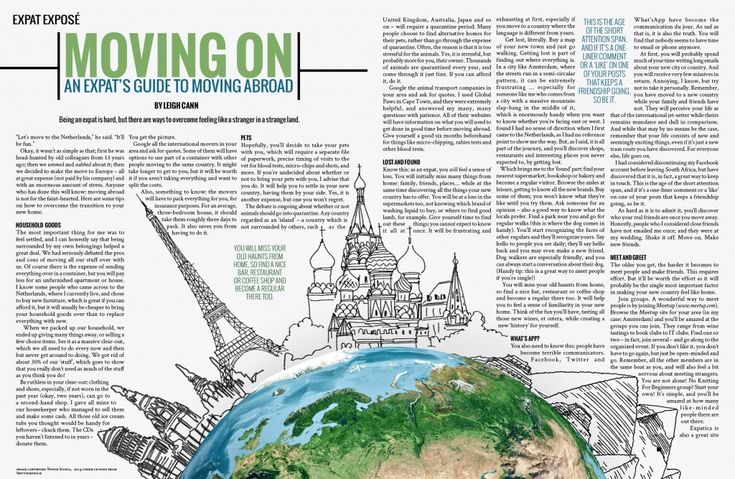 travelling publications living abroad