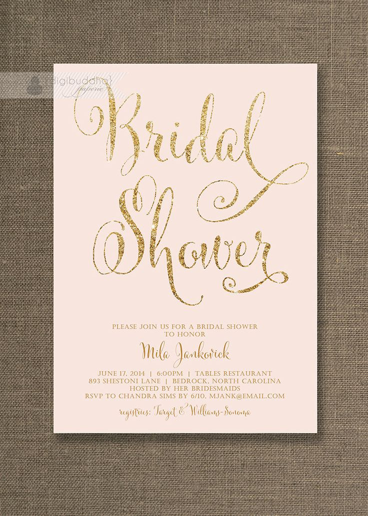 Pink And Gold Bridal Shower Invitations was very inspiring ideas you may choose for invitation ideas