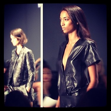 Brocade & leather at Helmut Lang SS'13!