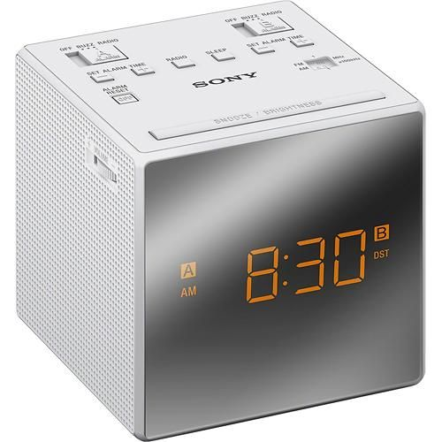 sony am fm dual alarm clock radio. Black Bedroom Furniture Sets. Home Design Ideas