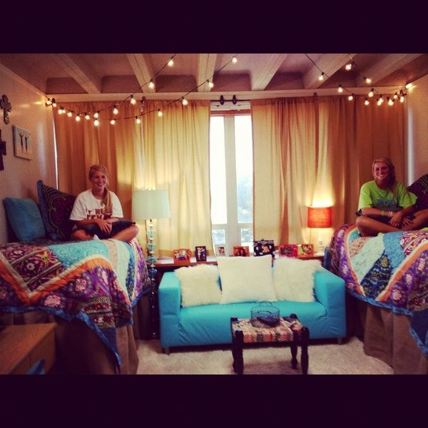 Dream room dorm room college pinterest for Cute college apartment bedroom ideas