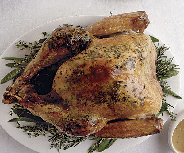 Fresh Herb and Salt-Rubbed Roasted Turkey recipe uses a dry brine, 4 ...