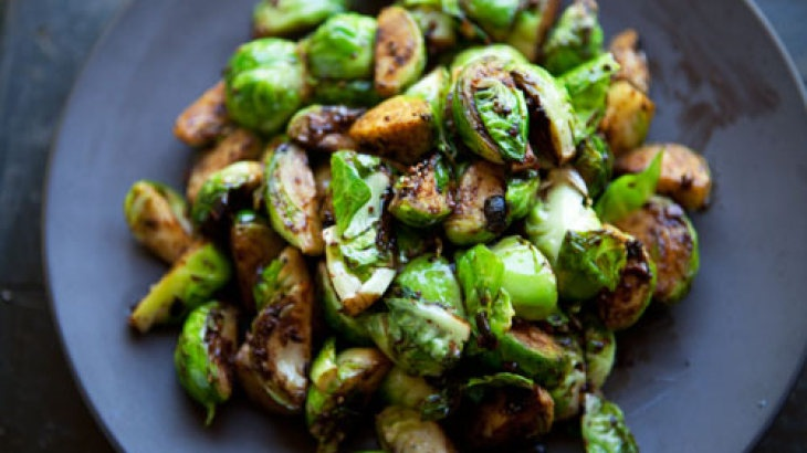 Brussels Sprouts with Black Bean Garlic Sauce (vegan, gluten-free)