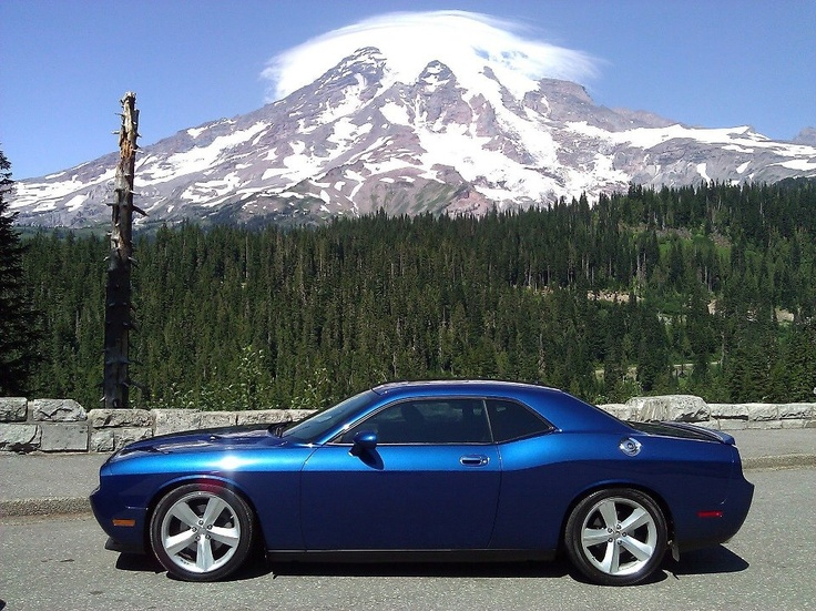 Blue Challenger And Mountain Dodge Chargers Challengers