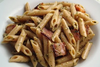 Penne with Pesto, Mascarpone, and Bacon | Culinary Adventures | Pinte ...