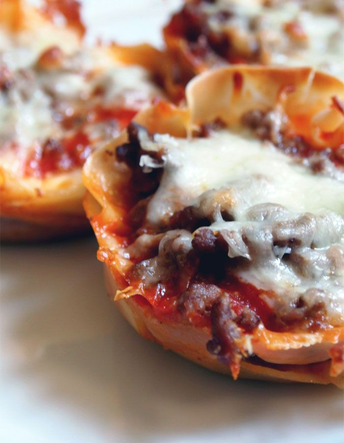 my new favorite: lasagna cupcakes