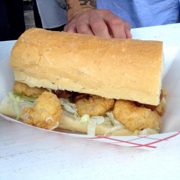 Fried Shrimp BLT Po' Boy Sandwich | Favorite Recipes | Pinterest