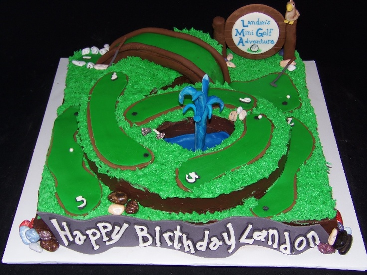 Mini Golf Cake-GoochieGourmet.com  Have to remember this!!  Pintere ...