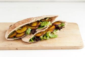 Grilled Beet and Hummus Stuffed Pita Recipe | RECIPE CORNER