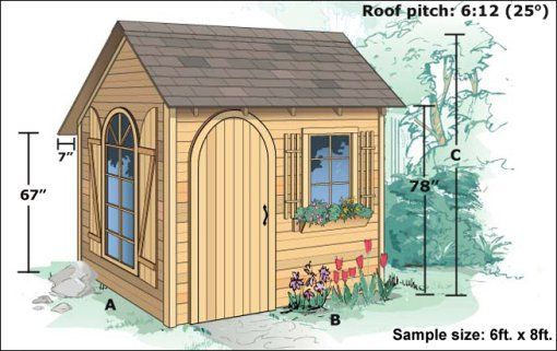 Fancy Backyard Sheds : garden shed  gardening  Pinterest