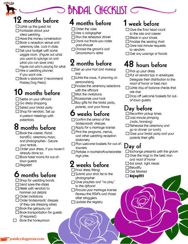 wedding planning checklist 6 months - Delliberiberi - wedding planning checklist