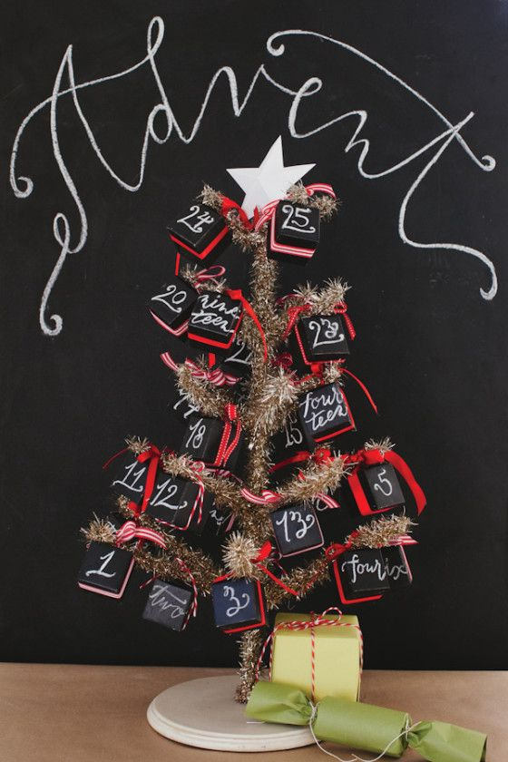 Chalkboard Boxes DIY Advent Calendar - #projectnursery