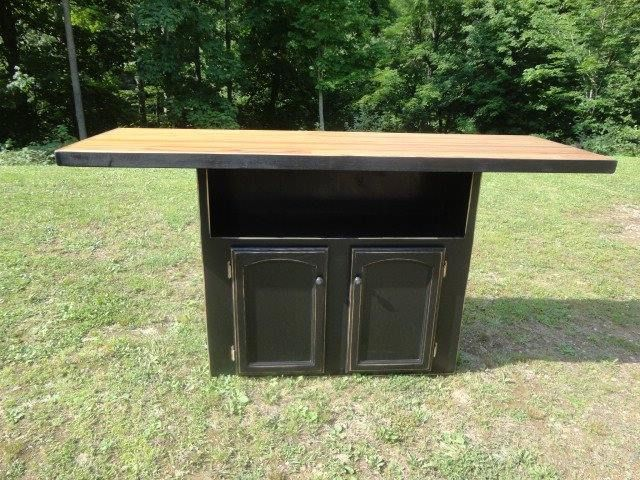 Primitive furniture - Kitchen Island Bar Handmade Primitive Wood Furniture Pinterest