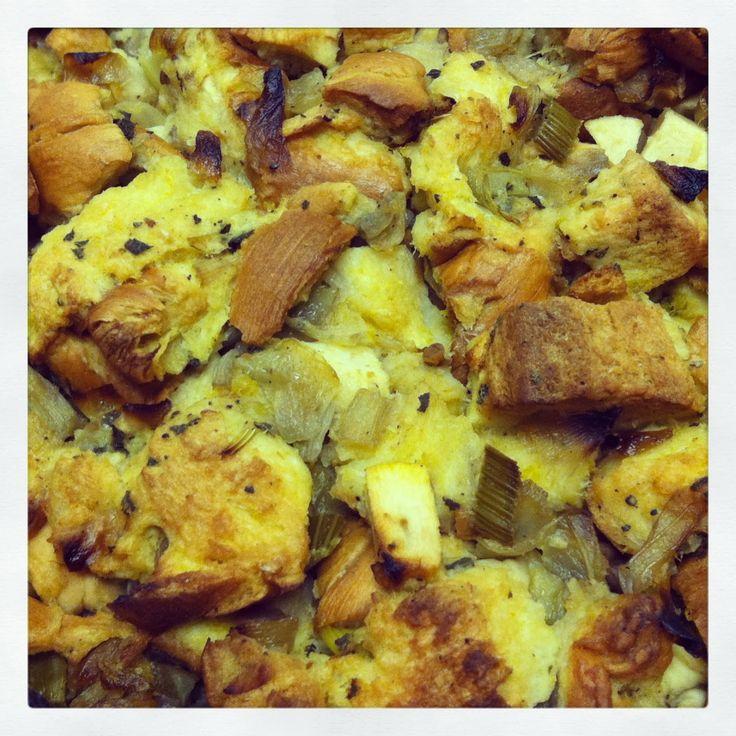 Apple-Chestnut Stuffing Recipe — Dishmaps