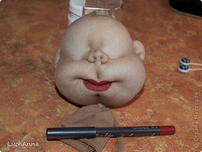 Как кукле сделать губы своими руками 73