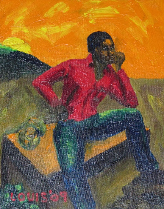 The thinker print by louis stephenson for Fine art paintings for sale online